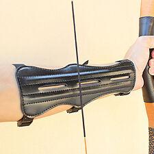 1stk 3-Strap Schießen Ziel Archery Armschutz Schutz Sicher Strap Kunstleder