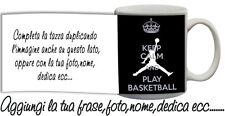 Tazza keep Calm and play Basketball Personalizzata con nome,foto ecc Idea Regalo