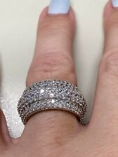 Victoria Wieck 925 Sterling silver 310 PC topaz simulated diamond band size 7