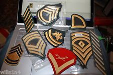 Collection of about 70 US military enlisted rank patches Vietnam to present