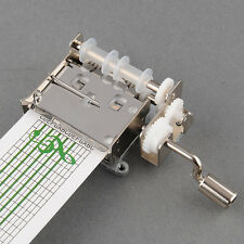 DIY Tune Tape Music Box Set Movement + Hole Puncher + 20 note paper Strips