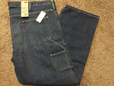 NWT LEVIS MENS BIG & TALL CARPENTER LOOSE STRAIGHT FIT JEANS 60X30 MSRP$68