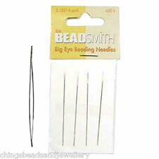 A Pack of 4 Beadsmith Big Eye Needles 2.125 inch UK seller