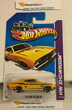 '73 Ford Falcon XB #198 * Yellow * 2013 Hot Wheels * D6