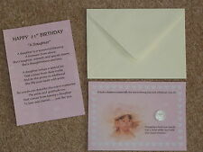 DAUGHTER 21st BIRTHDAY PRESENT/GIFT, LUCKY SIXPENCE & POEM IDEAL KEEPSAKE
