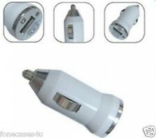 Bianco USB 1000mah MAMMA Car charger per Apple iPad iPod iPhone 4G 4S 5 5S 5C