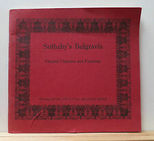 Sotheby's Belgravia Oriental Ceramics & Furniture Catalog 7/4/74 Chinese 40 pgs
