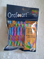 Orasmart Kid Flossers Berry Fresh 30 Count Fun Shapes & Color For Kids New