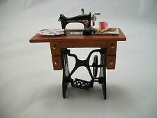 "Sewing Machine dollhouse miniature furniture 1/12"" scale G7027 metal & Wood"