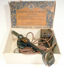 vintage WORKING 1930'S STROMBERG-CARLSON *MAGNETIC TONE ARM OUTFIT w/TRANSFORMER