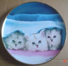 Franklin Mint Collectors Plate PEEK A BOO Kitten Cat