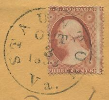 STAUNTON VA CDS WITH 1858 YEAR DATE TIES #25 3c  ROSE BROWN TO COVER.  y28a
