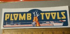 Plomb Tools War Time WW2 decal for restoration of vintage tool boxes1940's vinyl
