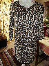 Traje DE MANGO Vestido Estampado De Leopardo Talla S