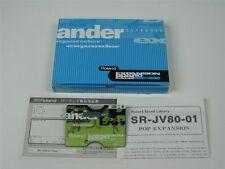 ROLAND SCHEDA DI ESPANSIONE SR-JV80-01 POP   CON SCATOLA