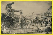 CPA France CARTE PHOTO CARNAVAL de NICE (Alpes Maritime) Masque Déguisement Char