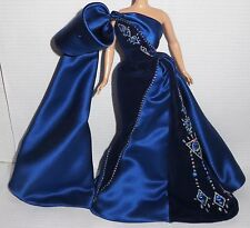 DRESS ONLY ~ MATTEL BARBIE DOLL JEWEL ESSENCE SAPHIRE SPLENDOR BLUE EVENING GOWN