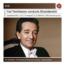 YURI TEMIRKANOV - YURI TERMIRKANOV CONDUCTS SHOSTAKOVITCH 6 CD NEU