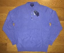 NEW NWT MENS CLUB ROOM POLO SWEATER SIZE S SMALL 100% FINE CASHMERE POND BLUE
