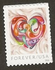 US Quilled Paper Heart forever single MNH 2016