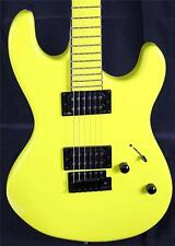2014 Dean Zone Custom Fluorescent Yellow HH Electric Guitar 7.5 lbs