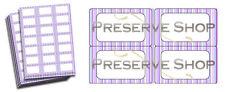 Bote De Mermelada Etiquetas para Conserva Lila Morado rayas Jam & Fabricación