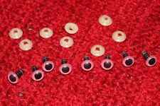 8 X TOY EYES - SAFETY TEDDY EYES 6MM-PINK-HIGH QUALITY PRODUCT