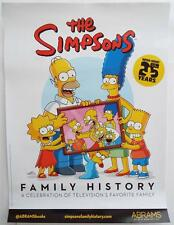 """New  The Simpsons Woo-Hoo!  25 Years Family History Promotional Poster 24"""" x 18"""""""