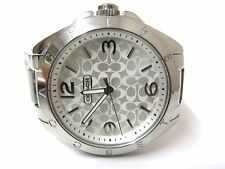 "Coach Womens ""Tristen"" Silver Signature Dial Stainless Steel Watch - 14501784"