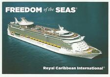 ms FREEDOM of the SEAS.....cruise ship...  RCI  Post Card ..in Capital Letters