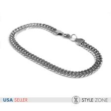 Men's Stainless Steel Wide 7mmx3mm Cuban Curb Heavy Link Chain Bracelet Punk M1