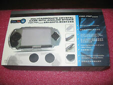 POLY-CARBONATE CRYSTAL CASE FOR PSP 2000 WITH ANALOG STICKS, CLEAR CASE