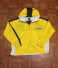 Chaps Ralph Lauren CRL Men`s Medium Yellow Hooded Windbreaker Jacket
