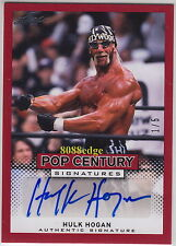 "2013 POP CENTURY AUTO: HULK ""HOLLYWOOD"" HOGAN #1/5 AUTOGRAPH WRESTLING LEGEND"