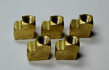 Brass Fittings: Extruded 90 Elbow Female Pipe Size 1/4 QTY. 5