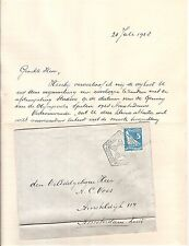 Netherlands 1928 Olympic Games OPENINGS DAY !! franking +cancel  local cover
