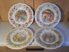 ROYAL DOULTON BRAMBLY HEDGE SERIES OF FOUR SEASONS PLATES 1ST QUALITY