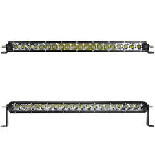 22Inch Cree Chips Slim Single Row 100w Spot Flood Combo LED Light Bar Jeep SUV