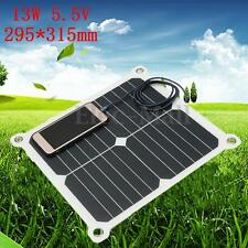 13W 5.5V Portable Mini Solar Panel Cell Dual USB Battery Charger For Phone GPS