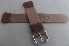 "Ultra Thin Timex ""Field"" Expedition Brown Nylon Water Resistant 18mm Watch Band"