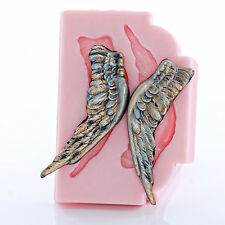 Angel Wing Flexible Silicone Mold Chocolate Fondant Resin Polymer Clay Wax (808)