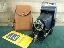 a nice vintage Kodak six 20 Brownie folding camera with case 620 roll film