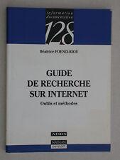 Guide de recherche sur Internet - Foenix-Riou - Coll. 128 éd. Nathan n°273
