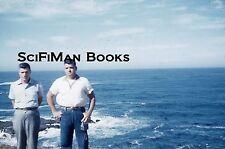 KODACHROME 35mm Slide Handsome Men Ocean Waves Rocks Old Camera Fashion 1960!!!
