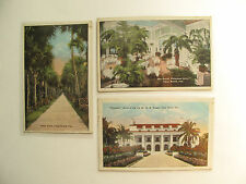 Postcards (3) Palm Beach, FL, Whitehall, Royal Poinciana Grill & Palm Walk 1920