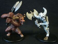 Dungeons & Dragons Miniatures Lot -  Minotaur & Minotaur Skeleton !!