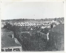 REPRINT OF IMAGE OF A VILLAGE OF TENTS, NEXT TO A BUNCH OF HOUSES.  8x10