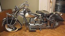 HARLEY DAVIDSON INDIAN FATBOY MOTORCYCLE HANDCRAFTED MODEL FIGURINE  STEEL METAL