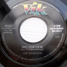 THE ROVER BOYS teen popcorn doowop 45 MAKE ROOM FOR ME vg+ b/w BLIND DATE vg H14