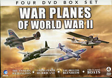 WAR PLANES OF WORLD WAR II, 4 DVD BOX SET, HAWKER HURRICANE FLYING BOATS &  MORE